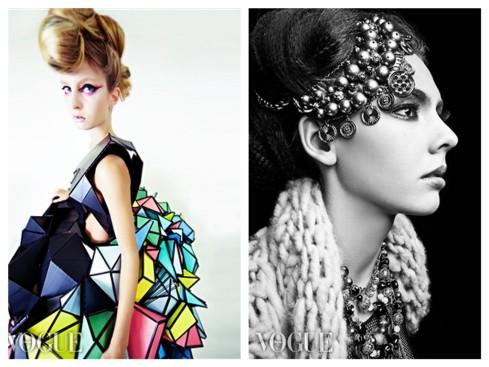 VOGUE Italia publication of Tommy Beauty Pro's makeup artisty