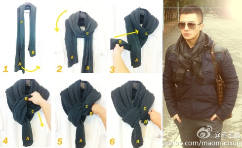 Scarf wearing for Men