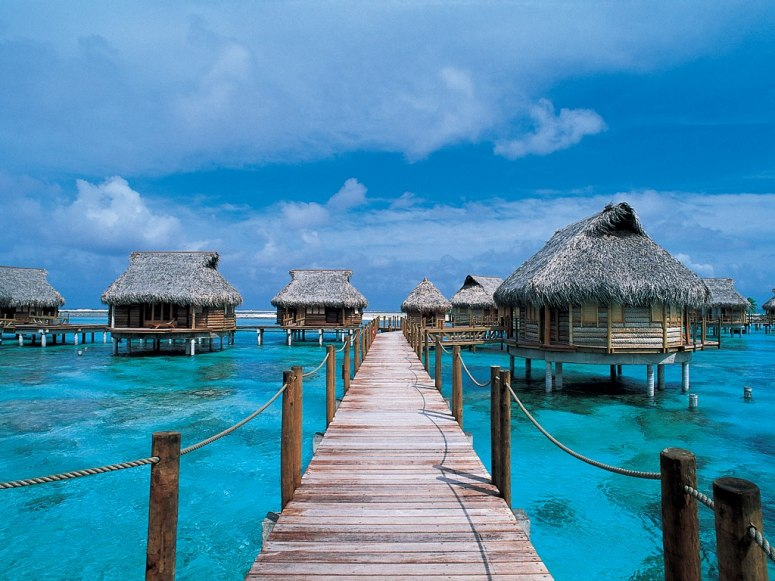 Dream vacation destinations tommy beauty pro Overwater bungalows fiji