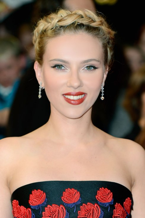 Braided Up-Do: Scarlett Johansson