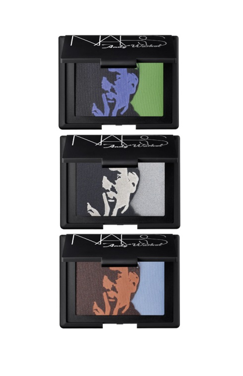Three different eye shadow palettes — Self Portrait 1, Self Portrait 2, Self Portrait 3 — offer new shades and Warhol quotes selected by Francois Nars on the compacts.