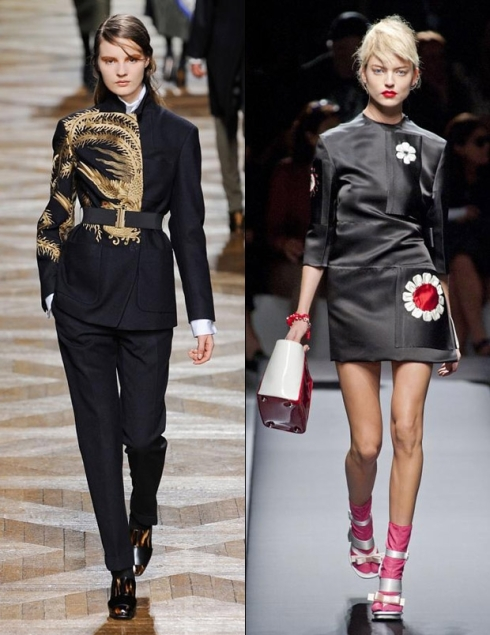 Dries Van Noten F/W '12, Prada S/S '13