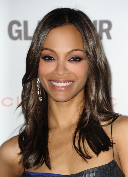Shiny Hair: Zoe Saldana