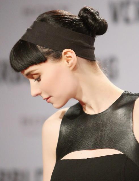 Sleek Chignon: Rooney Mara