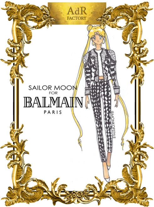 aDr Sailor Moon for Balmain Paris