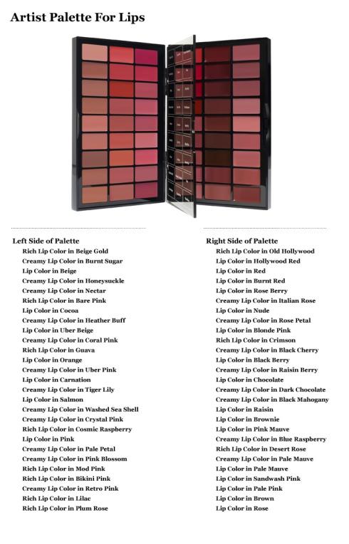 Bobbi Brown Artist Palette for Lips Shades