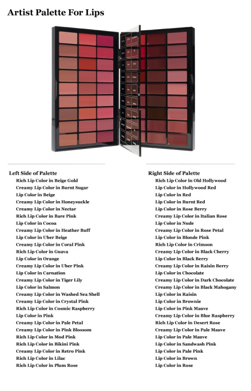 Bobbi Brown Artist Palette for Lips Shades