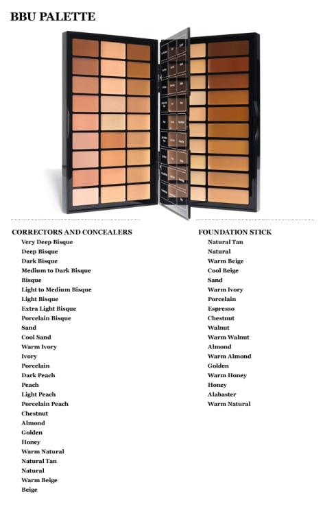 Bobbi Brown BBU Palette Shades