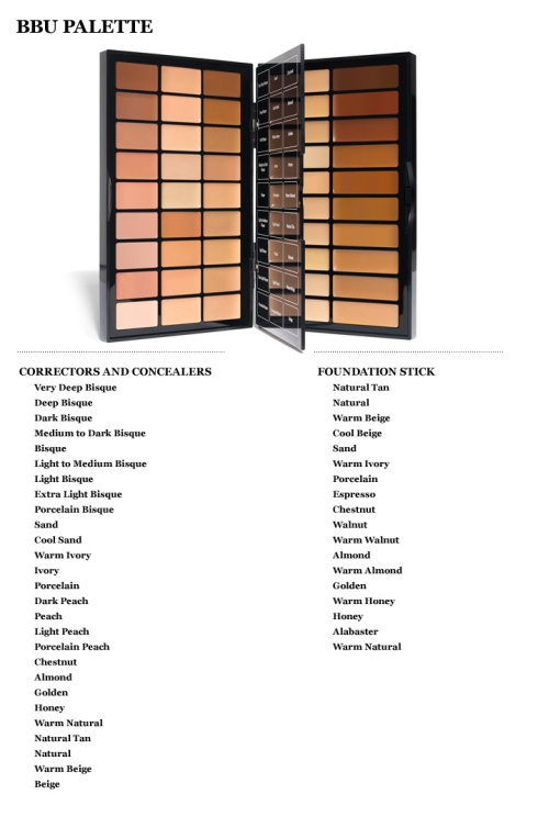 Bobbi Brown BBU Palette Shades