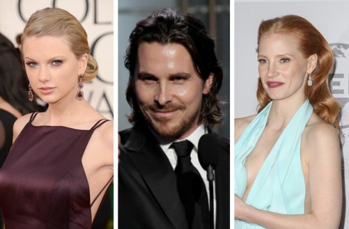 Taylor Swift, Christian Bale, Jessica Chastain