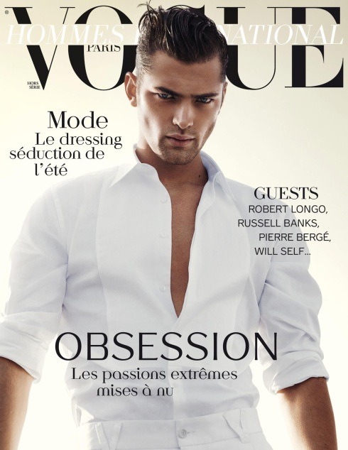 Supermodel Sean O'Pry takes the cover of Vogue Hommes International's (Paris) Spring/Summer 2012 Edition