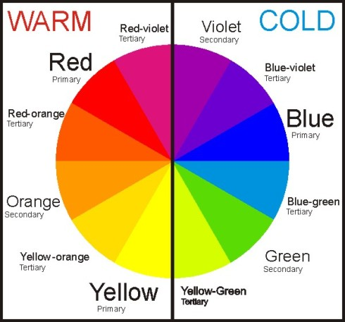Color Wheel Warm Cool Colors