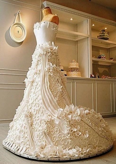 新娘婚紗蛋糕
