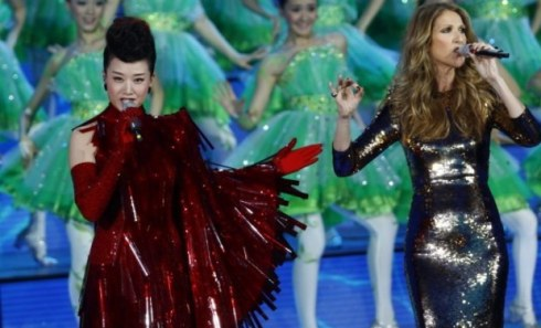 Céline Dion & Song Zuying Performing on CCTV Chinese 2013 New Year