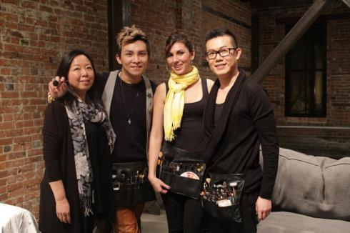 Cotte D'Armes SS 2013 Fashion Show Make-up Team: Mei, Eros, Andrea and Me  | photo by Andi Pham
