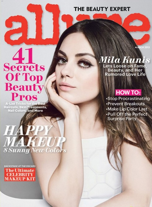 Mila Kunis Covers 'Allure' Magazine March 2013-01