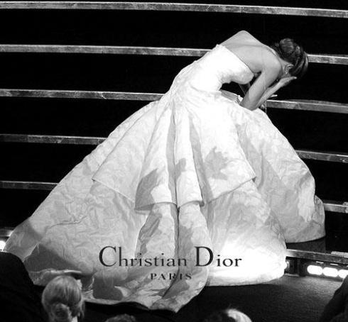 Jennifer Lawrence Oscars 2013 wearing Dior