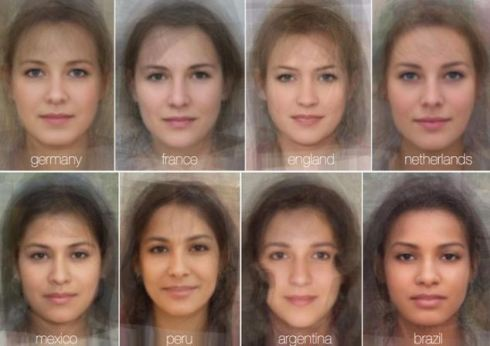 The face of the average woman from a variety of countries including England, China and Central Africa has been deduced by scientists