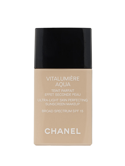 Chanel Vitalumière Aqua Ultra-Light Skin Perfecting Makeup is so thin and milky, you'd expect wimpy results. Being wrong never felt (or looked) so right: a streak-free, glow-y veil with no redness or blotchiness to be found.