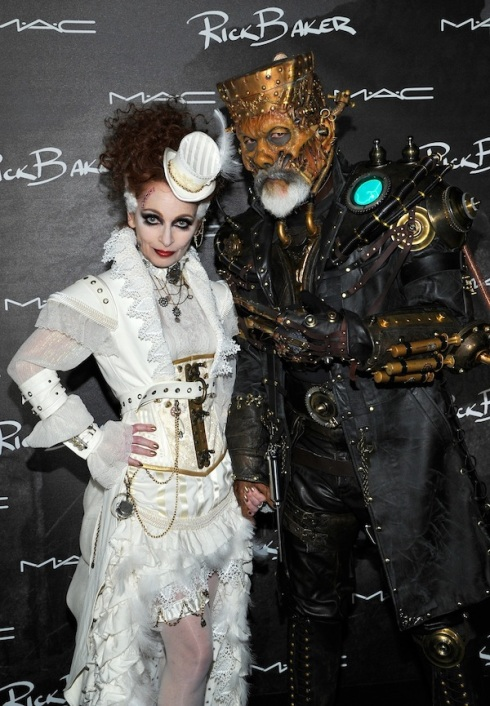 Rick Baker and Silvia Baker attend M·A·C Cosmetics and Rick Baker's Monster Mash