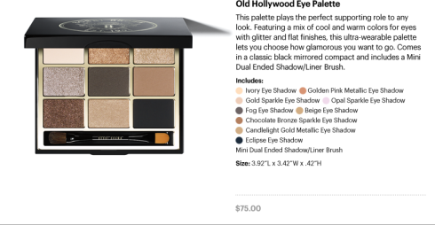 Old Hollywood Eye Palette