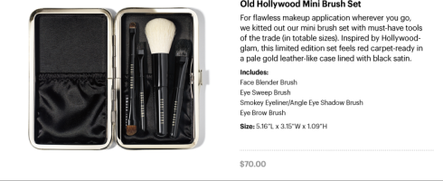 Old Hollywood Mini Brush Set