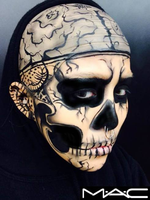 Skull Face by M·A·C Make-up Artist Vivi (Taiwan)