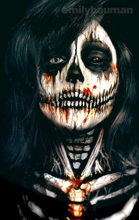 Creppy Skull by Emily Bauman