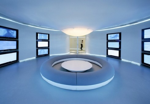 Seventh floor. An interplay of sinuous shapes by Ron Arad