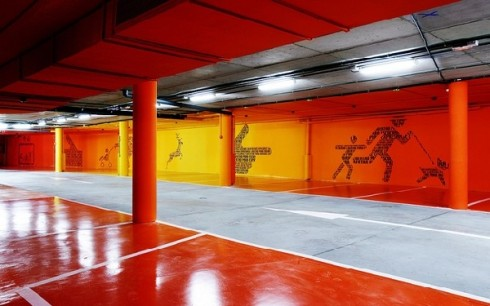 Car park. Stimulus of colours by Teresa Sapey