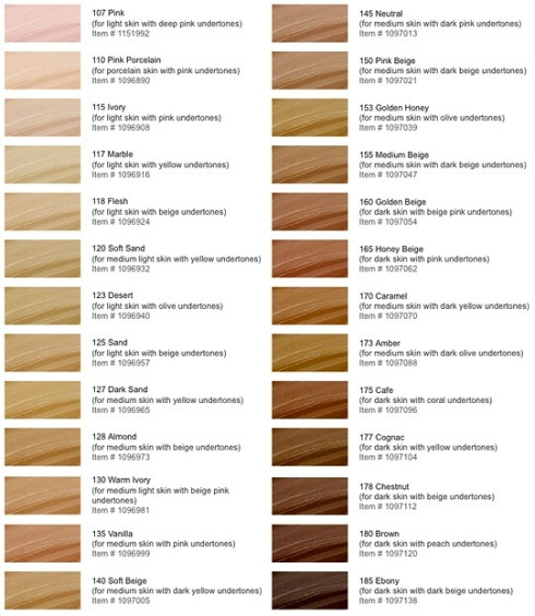 Make Up For Ever HD Foundation Shades