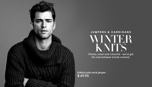 Sean O'Pry for HM Winter Knits 2013-01