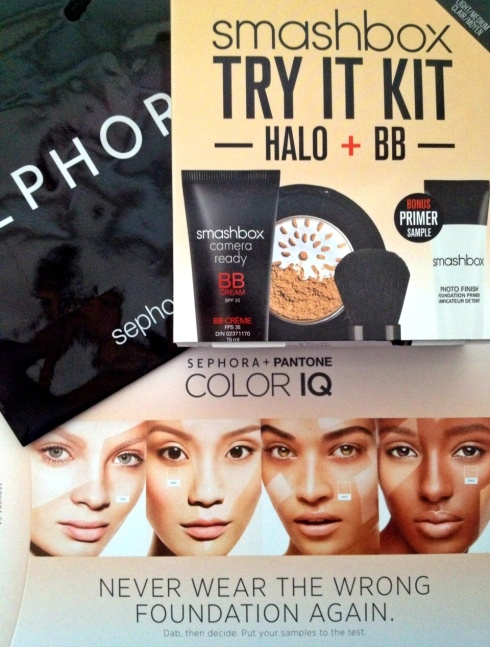 Sephora COLOR IQ and Smashbox BB Cream Halo Powder