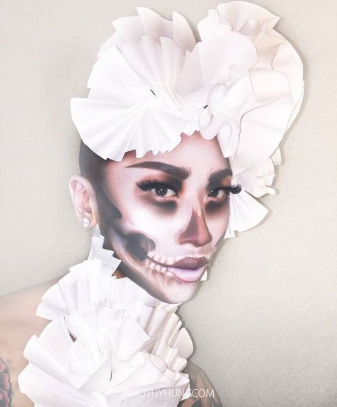 Lady GaGa Inspired Skull Makeup by MUA/Stylist: Timothy Hung