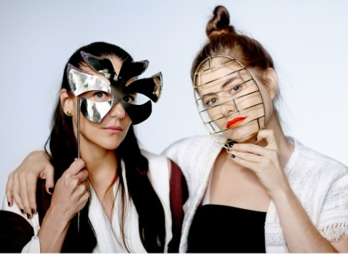 Anndra Neen masks worn by Phoebe Stephens and Annette Stephens