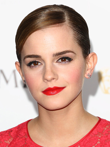 Emma Watson - Red Lips and Pink Cheeks