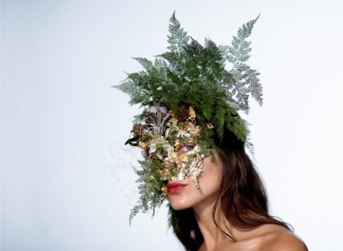 Flower Girl mask worn by Denise Porcaro