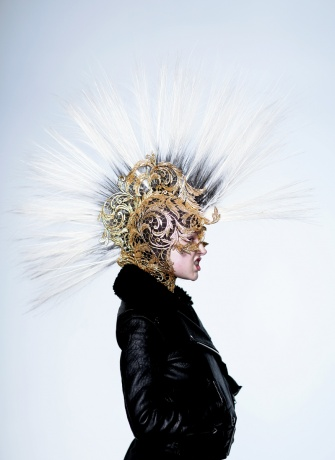 Jean Paul Gaultier mask worn by Olivia Bee
