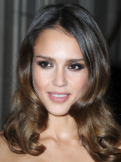 Jessica Alba - Silver Metallic Smoky Eyes