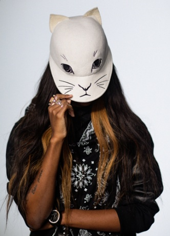 Opening Ceremony mask worn by Angel Haze