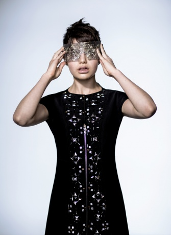 Prabal Gurung mask worn by Sami Gayle