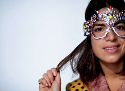 Shourouk mask worn by Leandra Medine
