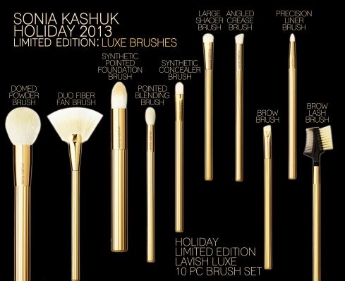 Sonia Kashuk Limited Edition The Lavish Luxe 10-Piece Brush Set