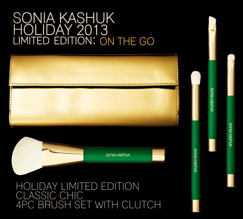 Sonia Kashuk - Limited Edition Classic Chic 4PC Brush Set with Clutch