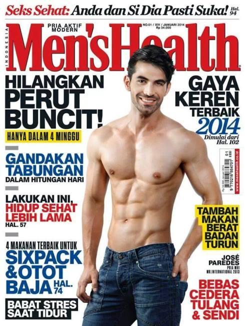Mister International 2013 covers Men's Health Indonesia Magazine