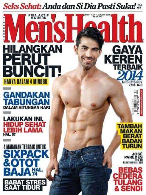 Mister International 2013 covers Men's Health Indonesia Magazine