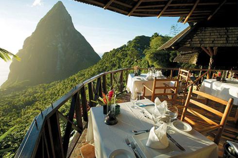 聖盧西亞餐廳,印度 Dasheene at Ladera, St. Lucia, Indonesia