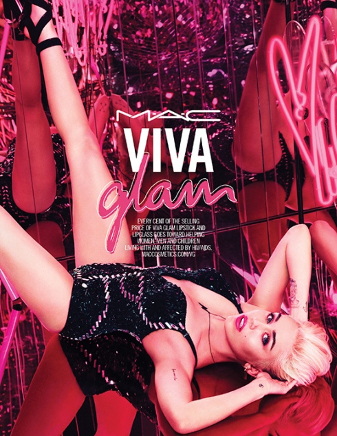 Miley Cyrus is the new face for M·A·C Viva Glam 2015!