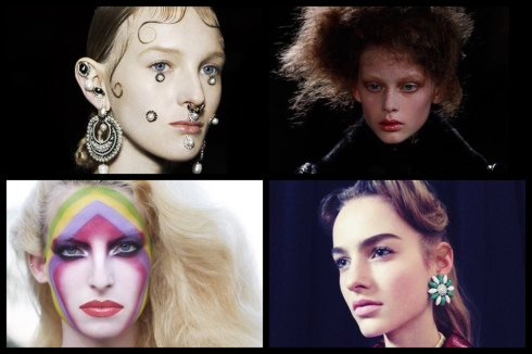 Pat McGrath是時裝週許多品牌爭相合作的彩妝師,左上順時針起Givenchy、 Alexander McQueen、Miu Miu2015秋冬、 Louis Vuitton2015早春。 (圖/Pat McGrath FB)