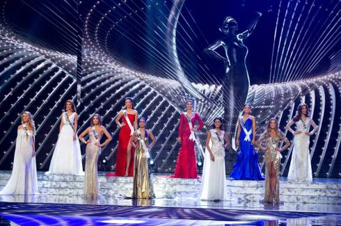 the top 10 contestants for the the title of Miss Universe 2015